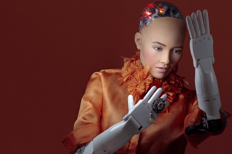 Photo of Sophia the robot