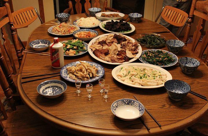 Dinner at Thanksgiving day