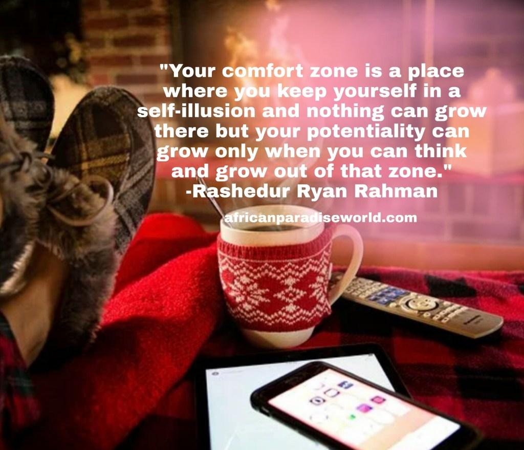 Self motivation quotes against comfort zones
