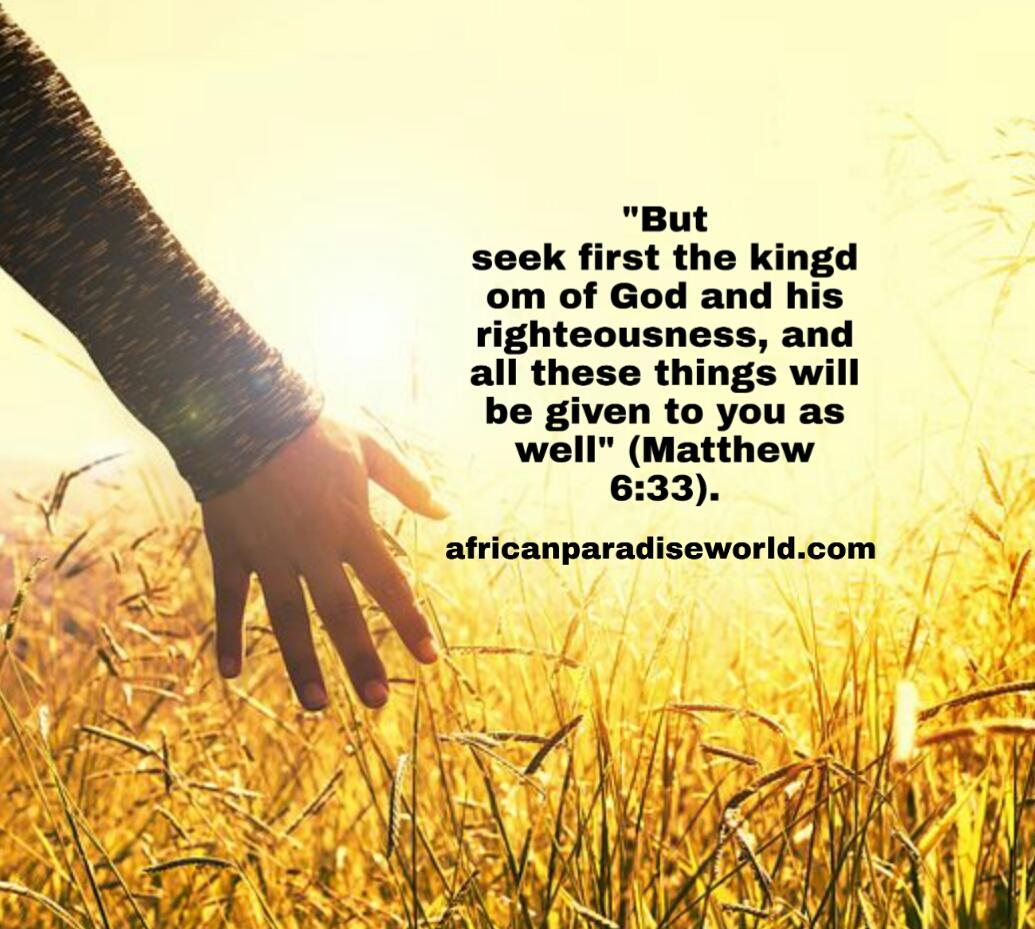 Seek the Kingdom of God first