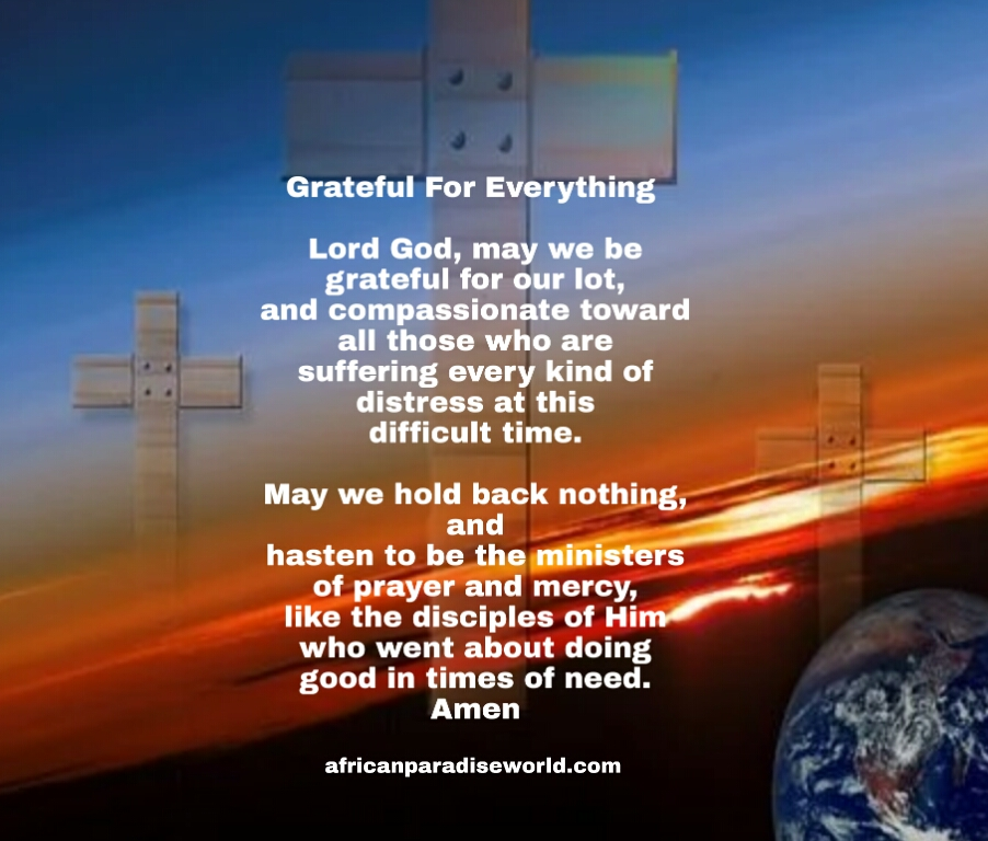 Being grateful prayer