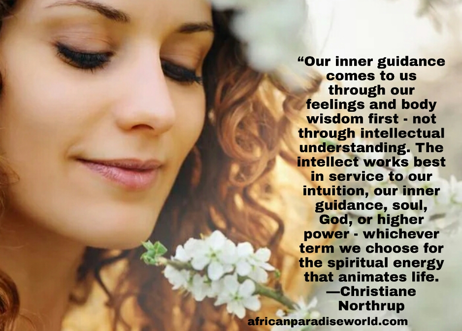 Inner guidance quote from Christiane Northrup