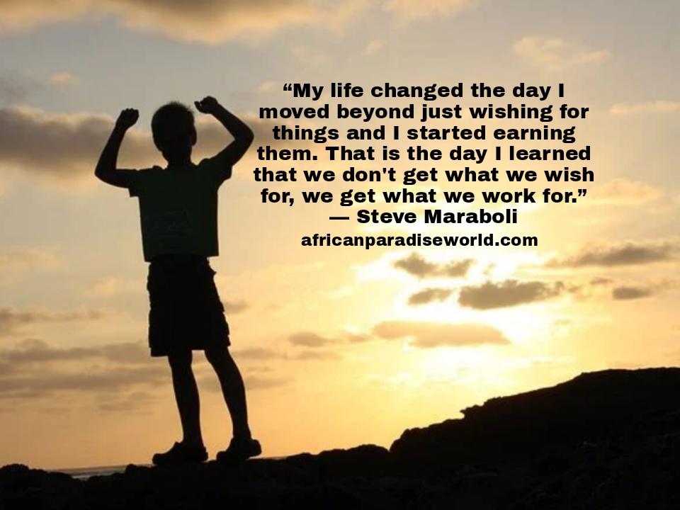 Life lesson quote from Steve Maraboli