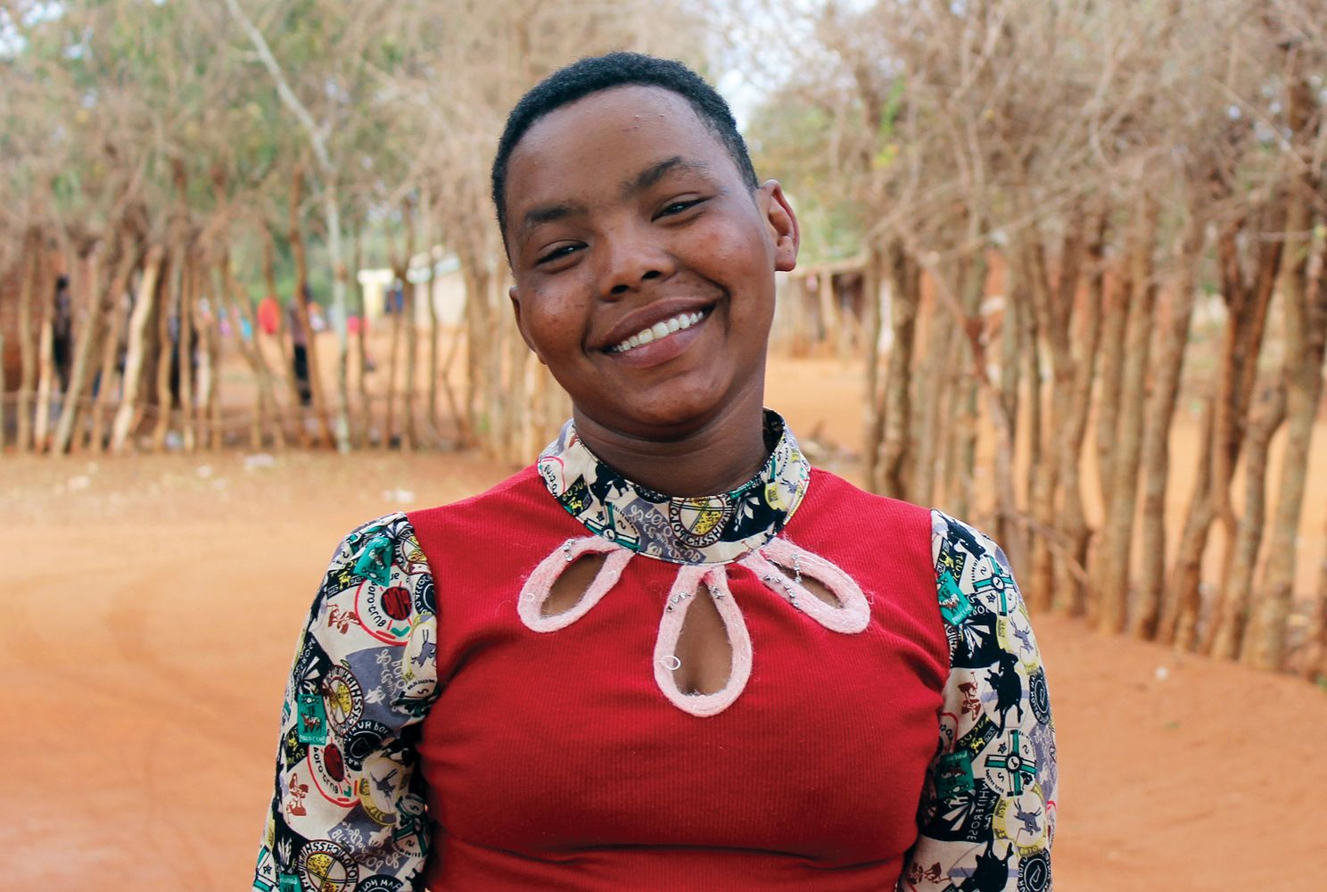 A female scholar in Tanzania