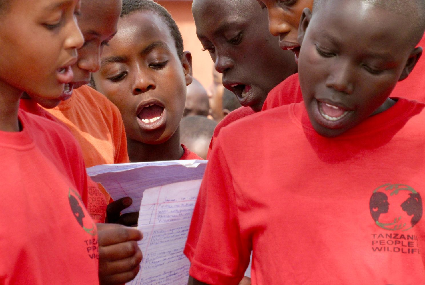 Tanzanian youth singing