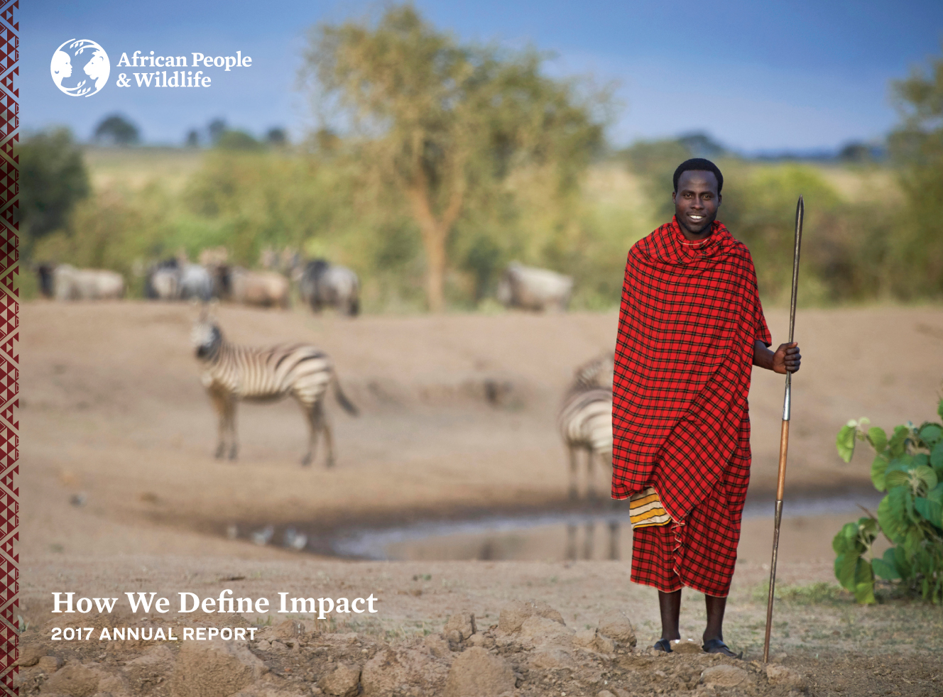 African People & Wildlife 2017 Annual Report cover