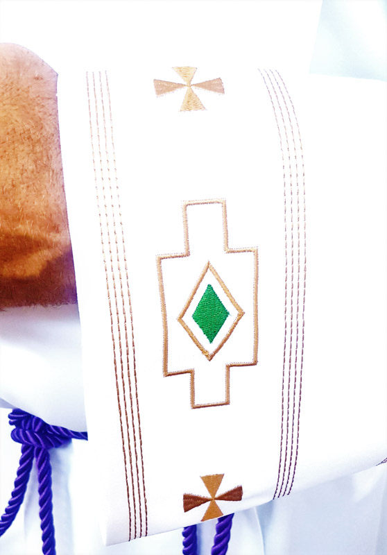 Alb Ethnic Embroidery Detail