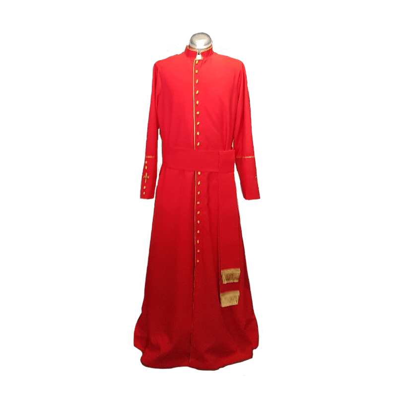 Cassock Red with Gold Trim
