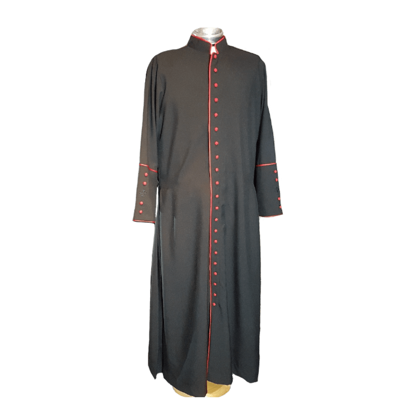 Black Cassock with Red Trim