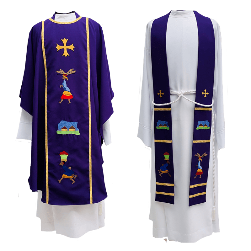 Chasuble & Stole African Pastoral