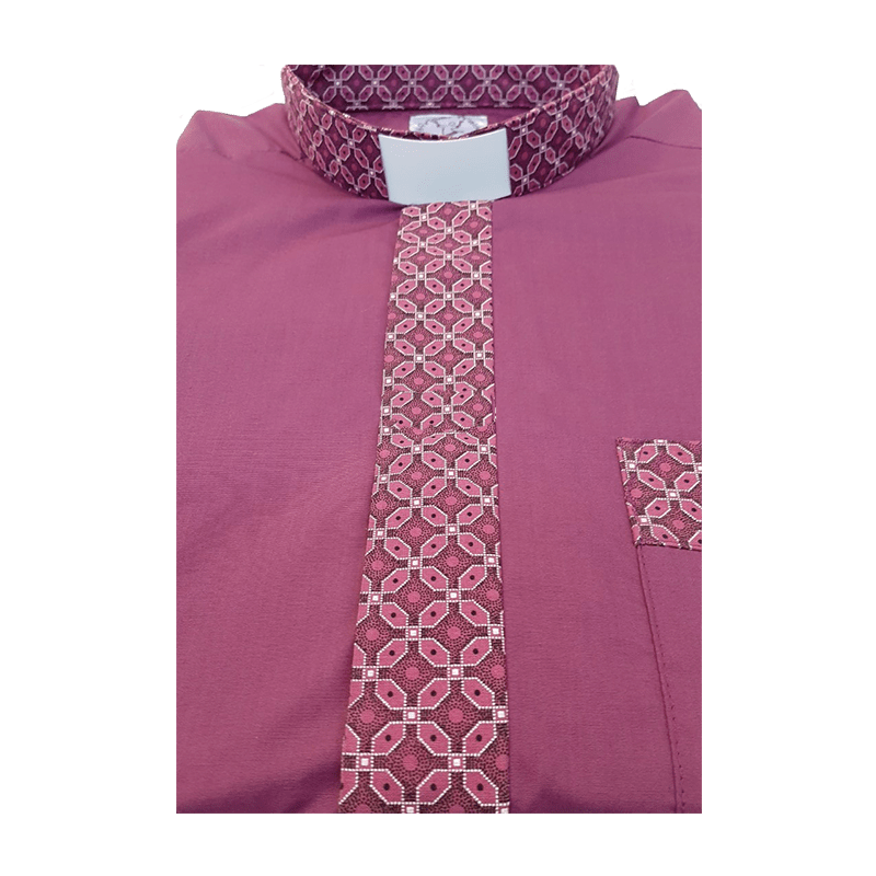 Men's Bishop Contrast Clerical Shirt