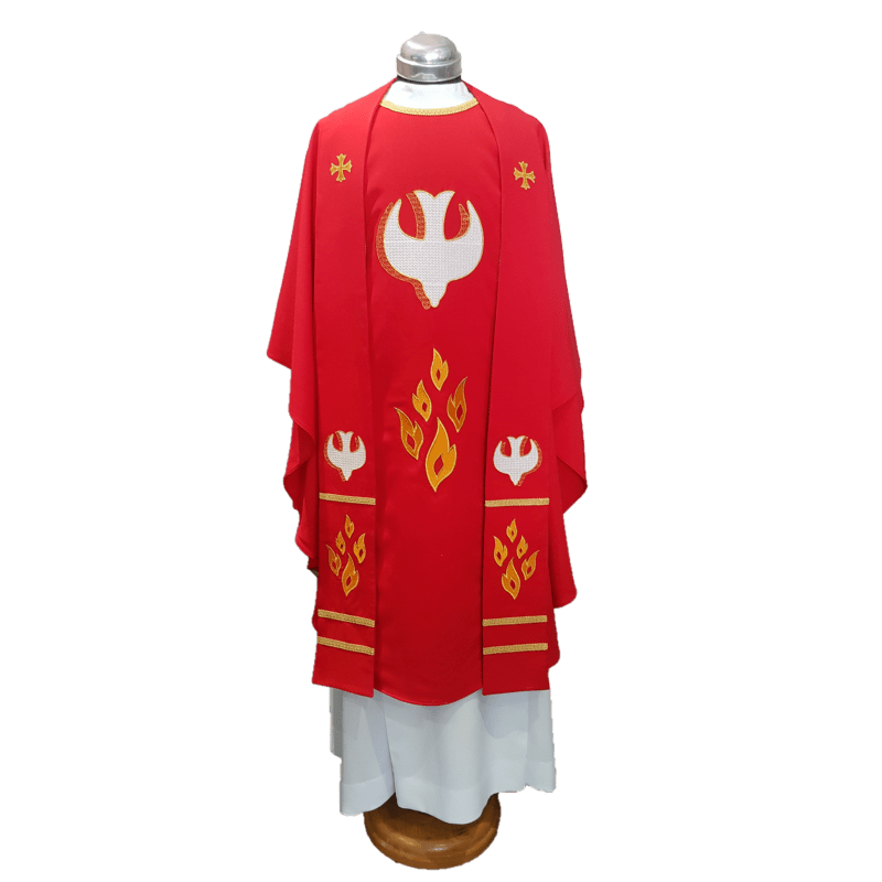 Chasuble & Stole Dove & Flames