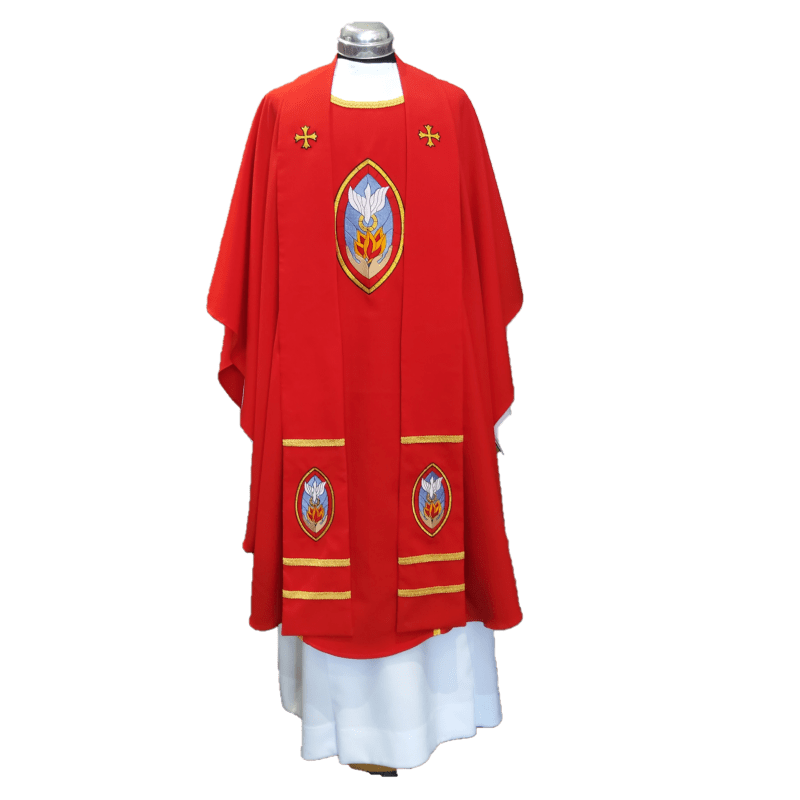 Chasuble & Stole Spirit Stained Glass