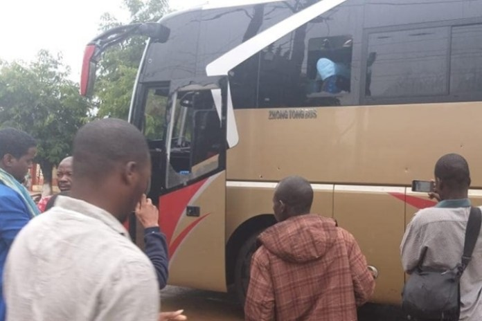 Gunmen open fire on a bus in central Mozambique killing 3