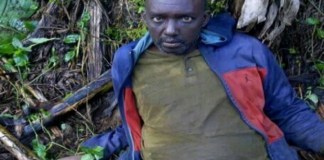 Habib Mudasiru, when he was captured in the bush in June, 2019