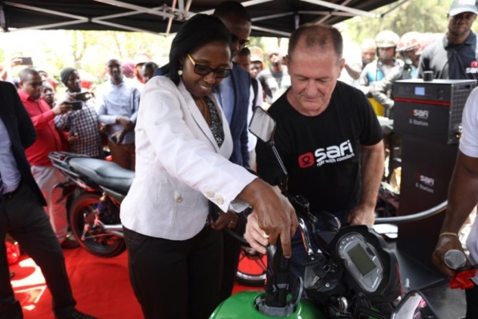 Rwanda scores another first; launches electric motorbike