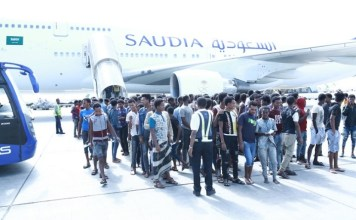 Hundreds of Ethiopians return home from Saudi Arabia jails