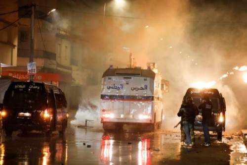 Tunisia youths clash with police days after revolution anniversary