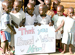 Children from Lewa Children's Home thank Bread and Water for Africa®