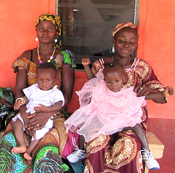 Patients at a remote clinic in Sierra Leone