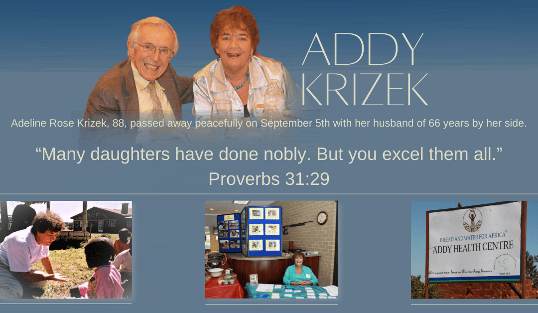A Tribute to Addy Rose Krizek: A Mother to Many Africa's Children