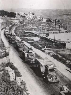Israeli troops relieving the Arab siege of Jerusalem