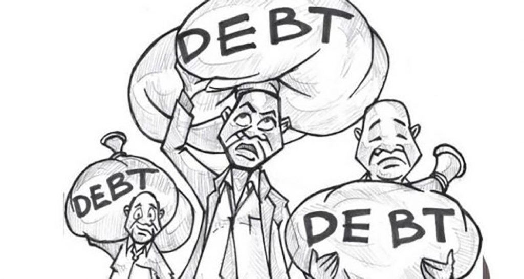 africa debt illustration