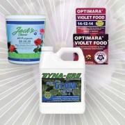 Three packages of fertilizer