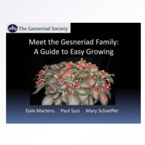 Meet the Gesneriad Family: A Guide to Easy Growing Webinar Download by Dale Martens, Paul Susi, Mary Schaeffer