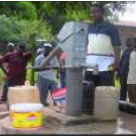 Buckets at well pump liberia nimba