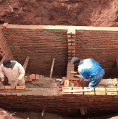 Latrine building Wash Malawi