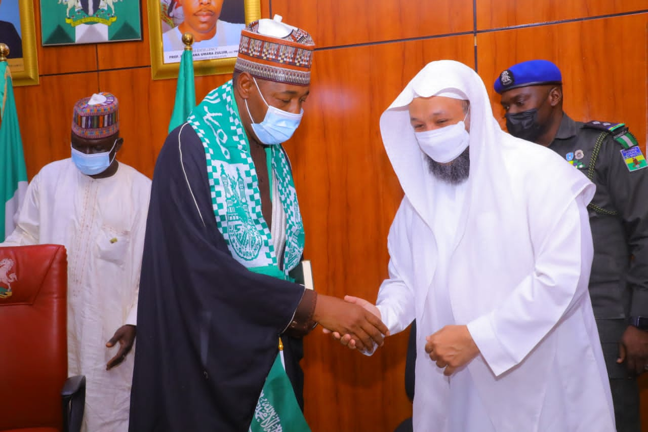 Holy Ka'aba's Imam Visits Zulum, Says We Monitor Your Achievements From Far
