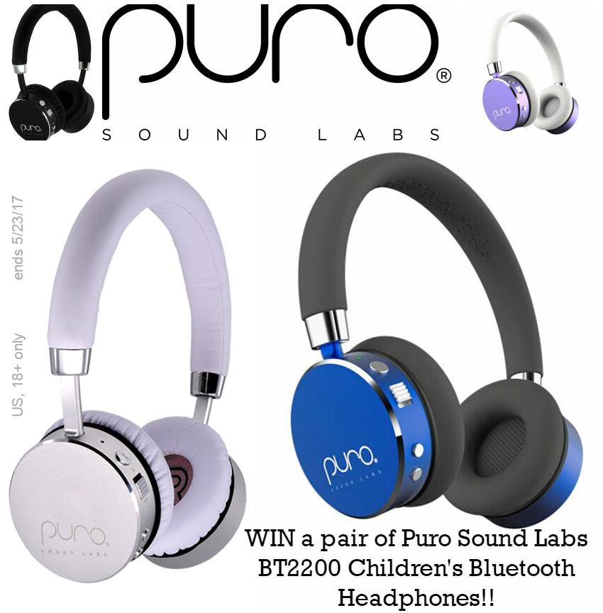 Puro Sound Labs Studio Grade Children's Bluetooth Headphones Giveaway! #2017Spring