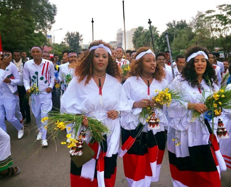Ethiopia's Oromo hold peaceful memorial at Irreecha festival
