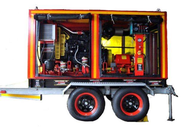 Diesel kp100 tj3 diesel pumping unit trailered