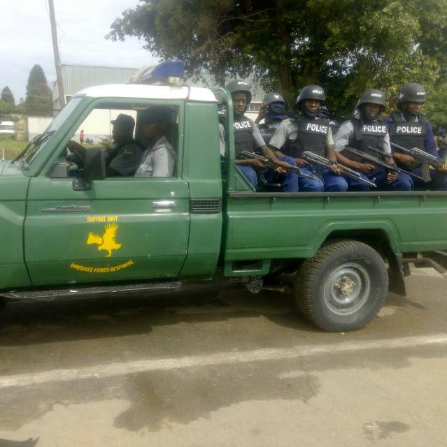 Anti-Riot Police patrols have become common in the CBD by Donald Mukota.