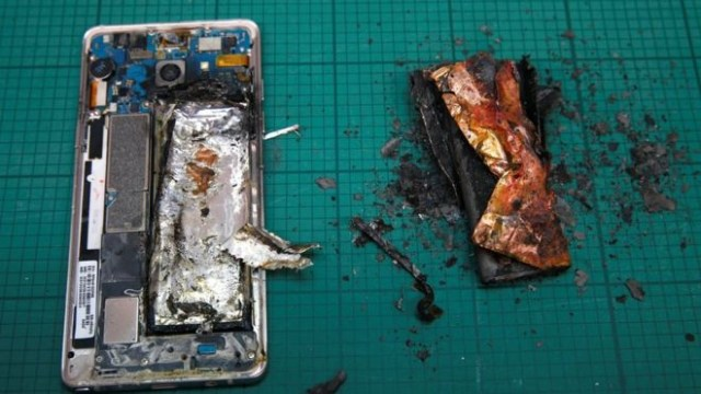 Battery caused Galaxy Note 7 fire
