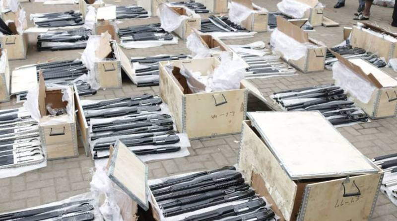 Customs intercepts 440 arms, ammunition of various designs