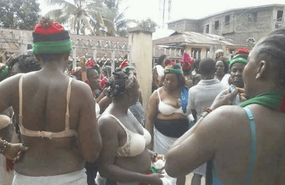 Abia State: Igbo women protest naked