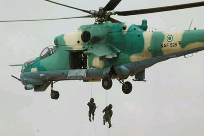 Nigerian Air Force Light Utility helicopter crashes into lagoon