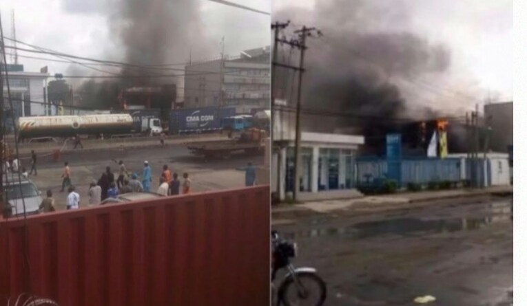 Mob set Diamond, Sterling banks ablaze as Policeman kills tanker driver