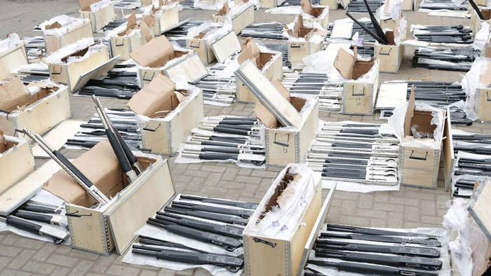 1,100 rifles intercepted from Turkey- Customs