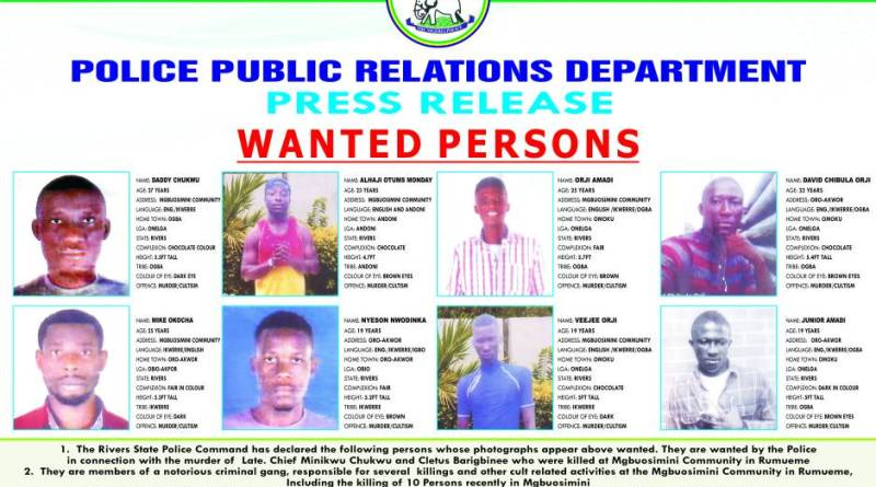 Police declares Nyesom, 7 others wanted
