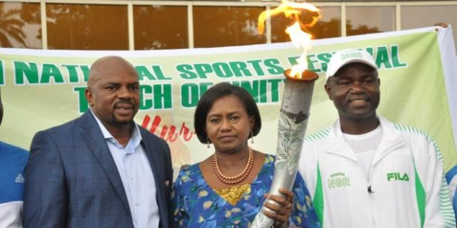 19th National Sports Festival: Unity Torch Arrives Rivers State