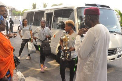 AWCON 2018: Presidency, NFF Welcome Triumphant Falcons