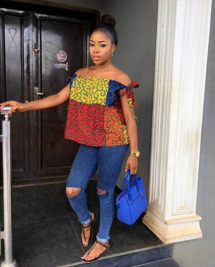 African fashion dress top with bag