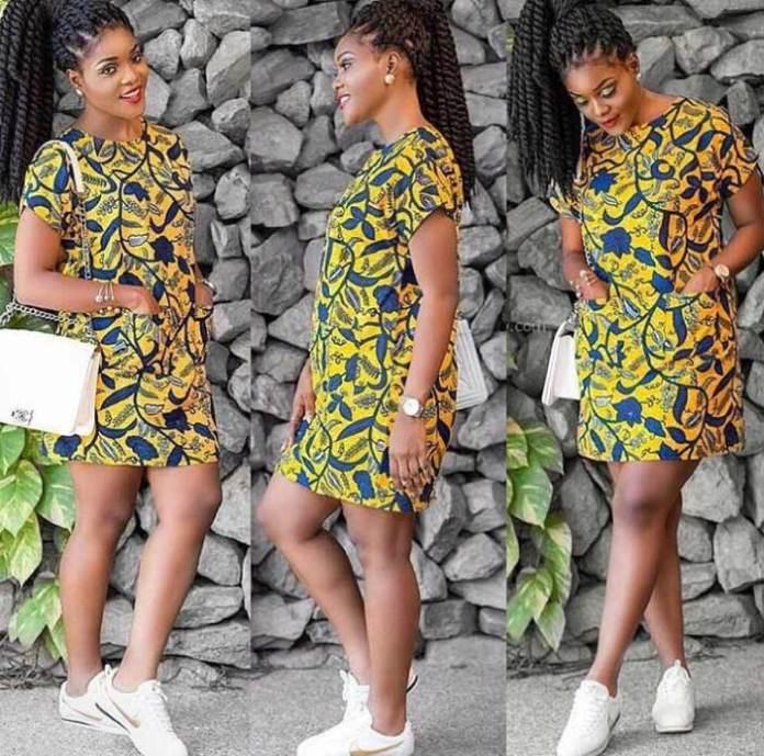 African print fashion dress