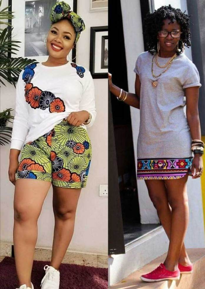 Latest african fashion dresses with sneakers