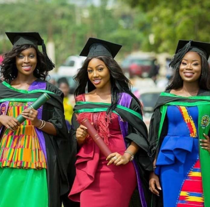 African print dress graduation photos