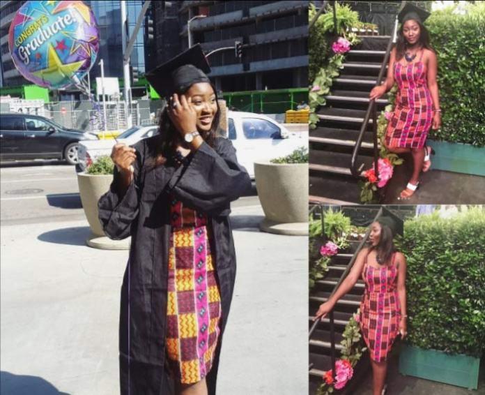 omotola's daughter meriah ekeinde graduation in african print